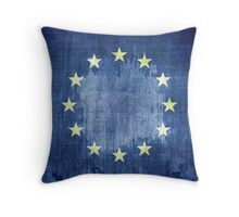 Grunge Flag Of Europe Throw Pillow