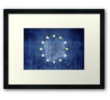 Grunge Flag Of Europe Framed Print