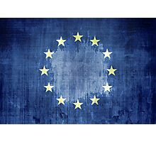 Grunge Flag Of Europe Photographic Print