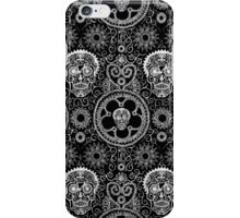 Skull Mehndi Black  iPhone Case/Skin