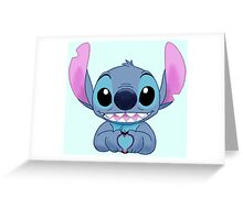 Stitch Loves You Greeting Card