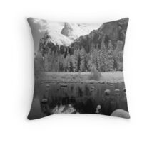 REFLECTION,MERCED RIVER Throw Pillow