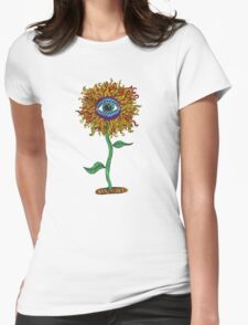 Psychedelic Sunflower - Exciting New Art - Doona is my favourite! Womens Fitted T-Shirt