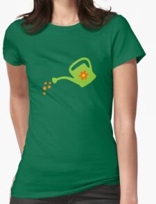Watering Can Watering Flowers (Light Green) T-Shirt