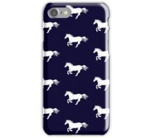 White Pony on Ink iPhone Case/Skin