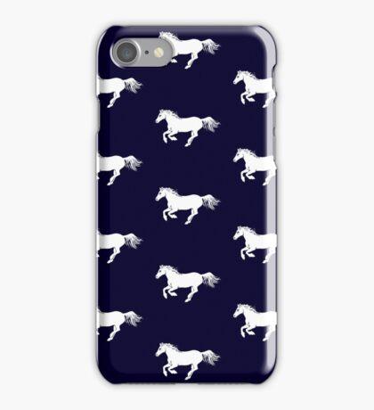 White Pony on Ink iPhone Case/Skin