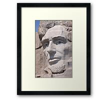 Abraham Lincoln, Mount Rushmore National Memorial Framed Print