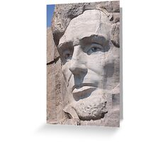 Abraham Lincoln, Mount Rushmore National Memorial Greeting Card