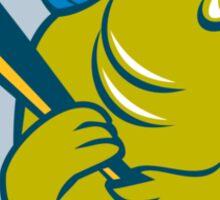 Trout Fish Baseball Batting Circle Cartoon Sticker