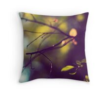 Silky Branches Throw Pillow