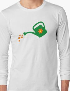Watering Can Watering Flowers Long Sleeve T-Shirt