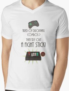 Try out a fight stick! Mens V-Neck T-Shirt