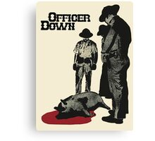 Officer Down Canvas Print