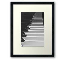 Music Keyboard Framed Print