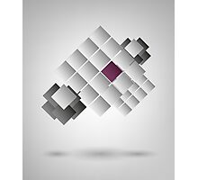 Abstract Design On Gray Background Photographic Print