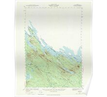 Maine USGS Historical Map Forest 306563 1940 62500 Poster