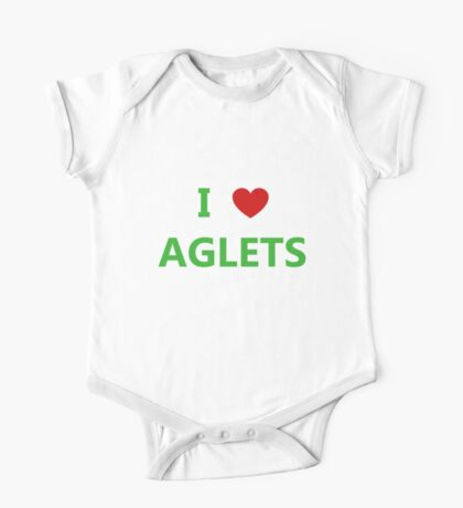 I Love Aglets - Phenias & Ferb style One Piece - Short Sleeve