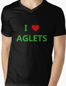 I Love Aglets - Phenias & Ferb style Mens V-Neck T-Shirt