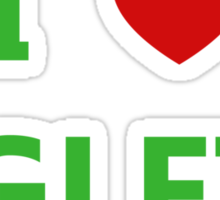 I Love Aglets - Phenias & Ferb style Sticker
