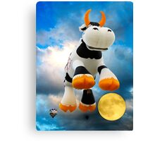 The Cow Jumped Over The Moon © Canvas Print