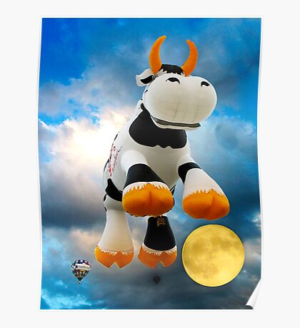 The Cow Jumped Over The Moon © Poster