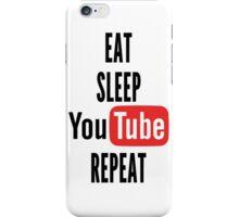 Eat, Sleep, Youtube, Repeat iPhone Case/Skin