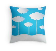 Abstract Design Clouds Throw Pillow