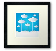 Abstract Design Clouds Framed Print