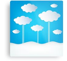 Abstract Design Clouds Metal Print