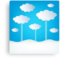 Abstract Design Clouds Canvas Print