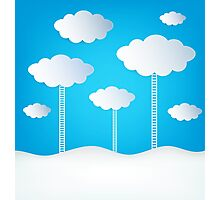 Abstract Design Clouds Photographic Print