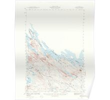 Maine USGS Historical Map Forest 306565 1940 62500 Poster