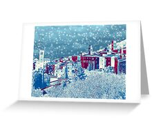 Winter in Assisi, Italy Greeting Card
