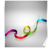 Color Ribbon Poster