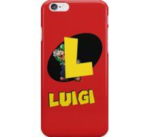 Luigi (Robin style logo) iPhone Case/Skin