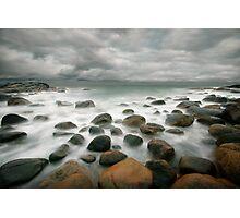 stormy stone beach Photographic Print