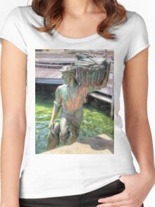 Fishing Harbour Fremantle WA 2 - HDR Women's Fitted Scoop T-Shirt