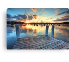 Sunset Point Frederick Wharf Gosford Canvas Print