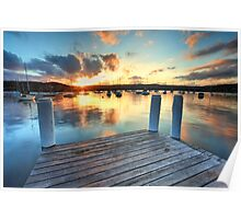 Sunset Point Frederick Wharf Gosford Poster