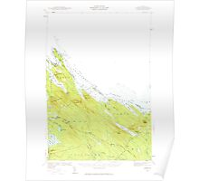 Maine USGS Historical Map Forest 460401 1940 62500 Poster