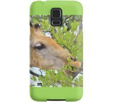 Giraffe - African Wildlife - Pleasure of Food Samsung Galaxy Case/Skin