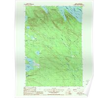 Maine USGS Historical Map Forest 807922 1988 24000 Poster
