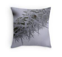 Needles of Frozen Fog Throw Pillow