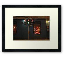 Red Ribbon Regent Framed Print