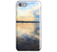 Boats at Saratoga late afternoon iPhone Case/Skin