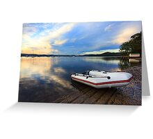 Boats at Saratoga late afternoon Greeting Card