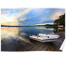 Boats at Saratoga late afternoon Poster