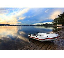 Boats at Saratoga late afternoon Photographic Print