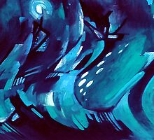 IN BLUE MOOD... by Julia Mainwaring-Berry