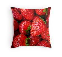 It's all in Strawberries Throw Pillow